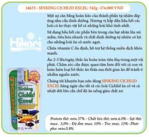Thức Ăn Cá Ali -SINKING CICHLID EXCEL-342G -1