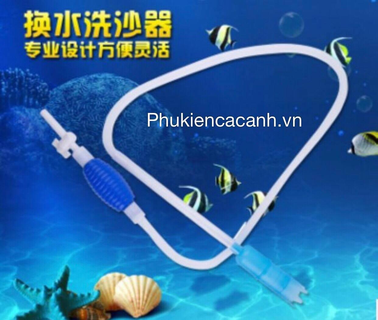 Hút Cặn Bể Cá Bóp Tay